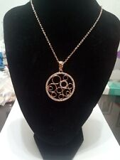 Bling Fashion Jewelry Necklace Rose Gold Plated