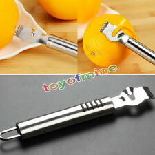 Stainless Steel Zest Peeling Tool Lemon Orange Zester Citrus Grater Grips Lime