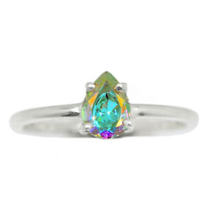 Mercury Mystic Topaz 925 Sterling Silver Ring Jewelry s.7 BR98601