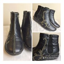 PAVERS WOMEN ANKLE LEATHER BOOTS  UK SIZE 4 EMBROIDERED BOXED