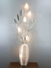 Stehleuchte aus Alu-Drahtgeflecht Tamera 7 flg. Dekoration Lampe Blumenleuchte