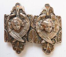 Boucle de ceinture metal 19e siècle Style Froment-Meurice Ange angelot buckle