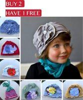 Baby Flower Cotton Hat Beanie Newborn Infant Toddler Girl Boy Kid Photo Prop