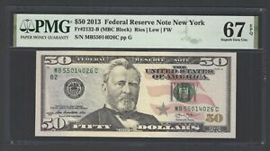United State -Federal Reserve Note 50 Dollars 2013 Fr2132-B (MBC Block) Grade 67