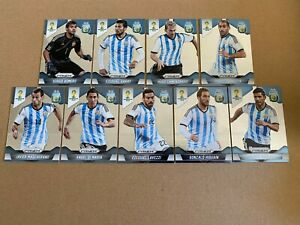Panini Prizm 2014 World Cup Argentina team lot 9 cards
