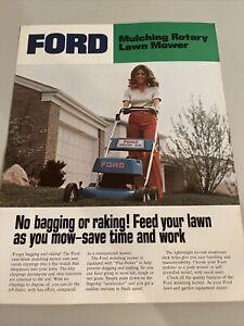 Original OE OEM Ford Mulching Rotary Lawn Mower Dealer Sales Brochure Spec Sheet