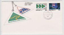 (Icf187) 1987 Au Fdc 2set Australia day (A)