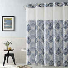 Hookless Ikat 71-Inch x 74-Inch Shower Curtain in Estate Blue