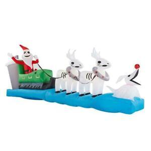 11.5 Ft JACK SKELLINGTON SLEIGH Airblown Inflatable NIGHTMARE BEFORE CHRISTMAS