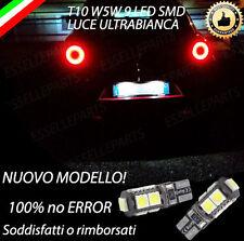 COPPIA LUCI TARGA 9 LED ALFA ROMEO MITO T10 W5W CANBUS BIANCHI NO ERROR!