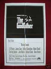 THE GODFATHER * 1972 ORIGINAL MOVIE POSTER 1SH MARLON BRANDO AL PACINO UNUSED C9