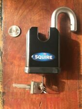 SQUIRE SS50C  50mm SOLID STEEL PADLOCK SHROUDED