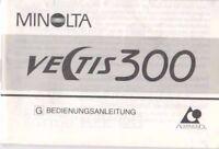 MINOLTA - Vectis 300 - Bedienungsanleitung für Kamera - B3700