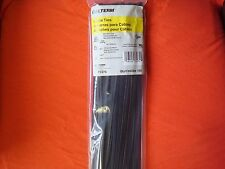 14 INCH 100 BLACK NYLON CABLE WIRE ZIP TIES 75LB MADE USA QUALITY MILITARY SPECS