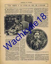 Sciences et voyages n°147 du 22/06/1922 Khai-Dinh Annam Indiens Pueblos Arachide