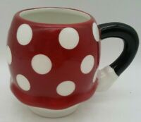 Minnie Mouse Bottom Polka Dot Skirt Coffee Mug Cup Walt Disney Red White & Black