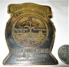 ANTIQUE COUNTRY USA PRIMITIVE FARM AGRICULTURE SIGN BRASS BRONZE PAPER DESK CLIP