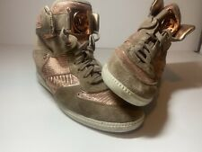 Michael Kors Womens  Wedge Fashion Sneakers Size 10 M Suede Rose Gold