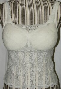 Wear & Go Lace Fully Padded Cups Mastectomy Camisole - Stuffed Cup Bra
