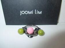 joomi Lim Tripe Bola Rosa Verde Brillante Esmalte bola bronce Anillo