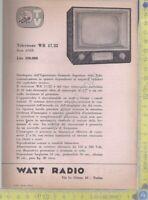 Watt Radio - Televisore WR 17/22 - Serie ANIE - Anni '60