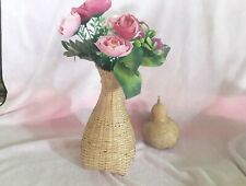 Bamboo vase free flowers plastic  Decoration Home Decor Handmade