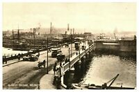 Vintage postcard Queens Bridge Belfast N Ireland tram cars W E Walton