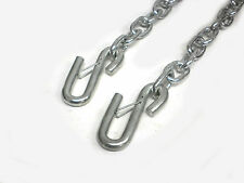 "1/4"" Trailer Safety Chains Camper RV 5000# Rated with Latching S Hooks"