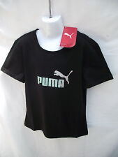 ~BNWT Girls Sz 14 Black Puma Logo Slim Fit T Shirt Top