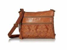 The Sak Reseda Crossbody Bag Tobacco/Floral/Embossed - New