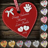Personalised Happy Valentines Mummy Mum Grandma gift heart plaque keepsake