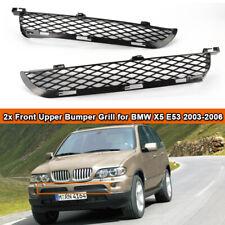 derecha BMW X5 E53 03-06 Auténtica Plata titán par Parrilla Superior Parachoques delantero izquierda