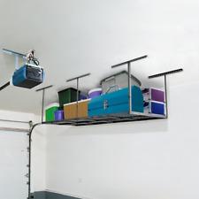 "FLEXIMOUNTS 4x8 Overhead Garage Storage Rack Adjustable Ceiling Garage Rack 96"""