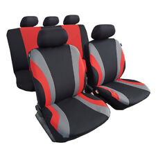 Esteem Polyester 11pcs Cool Red Black Sports Car Seat Cover For Corolla Camry
