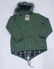 Joe Browns Mens olive GREEN Parka Coat Size XL Fur Hood Trim RETAIL PRICE £90