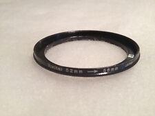 Vivitar 52m to 58mm Step Up Metal Filter Ring Adapter