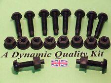 10  Black Plastic Nylon Number Plate Nuts Bolts Fittings Fixing Screws Car 4 x 4