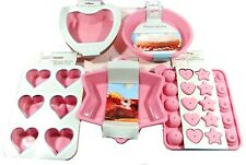 Let's Get Baking Five Piece Silicone Baking Mould Set NEW FREEPOST