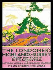 TRAVEL TRANSPORT TOURISM SURREY RAILWAY TRAIN LONDON TREE UK ART POSTER CC6986