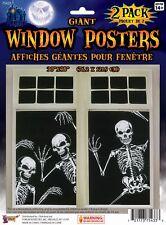 Fête de Halloween Effrayant Géant Squelette Affiche Fenêtre Costume Horreur