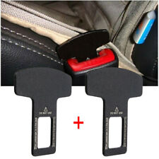 2X Car Interior Accessories Auto Seat Seatbelt Safety Belt Extender Buckle Black