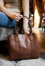 Frye Melissa Tote Redwood Smooth Full Grain Leather Bag Purse Handbag