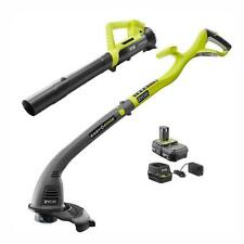 RYOBI P2036 ONE+ 18V String Trimmer/Edger and Blower Combo Kit with Battery Charger