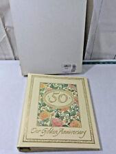 Vtg Hallmark 50th Wedding Anniversary Album (10 x 11 Pages) in Box ~ Great Gift!