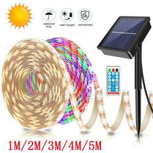1-5M Solar Powered LED Strip Light Fairy String Light Warterproof Garden Outdoor