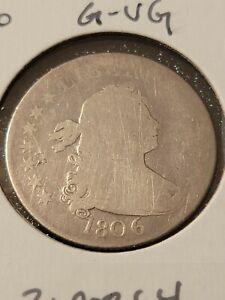 1806 25c Draped Bust Silver Quarter Dollar G-VG