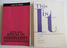 New Listing2 Alan W. Watts Books This Is It & Other Essays + Myths & Ritual Christianity
