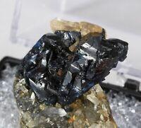 Killer Complex Lazulite Crystal w/ Augelite Thumbnail Rapid Creek Yukon Canada!
