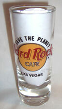 "Hard Rock Cafe Las Vegas Shotglass 4"" Tall 2 oz Save the Planet"