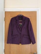 HYPEN Debenhams Women's Purple Suede Feel Fitted Blazer Jacket Size 10 - NEW £65